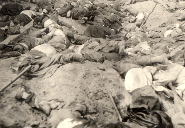 Внутрішній двір в'язниці «Бриґідки», червень 1941 р. (фотографія з колекції Спільноти пам'яті мучеників та героїв Голокосту «Яд Вашем»)