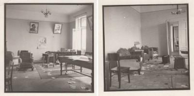 У покинутому приміщення Управління НКВД у Станіславівській області.