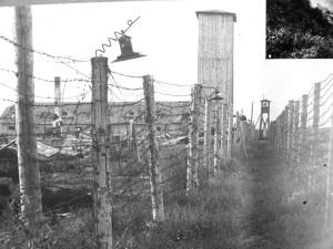 Перегородки з колючого дроту внутрішнє розмежування зони концтабору